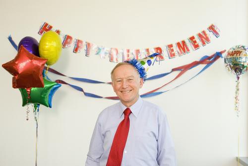 Danksagung für den alter Mann im Ruhestand