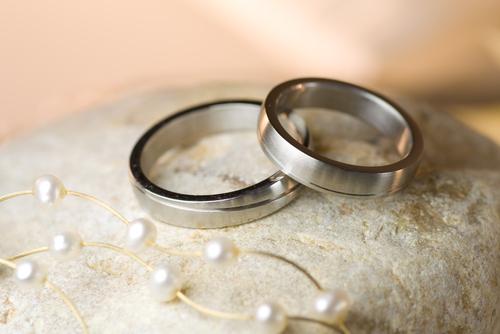 Danksagungen zur Silberhochzeit mit zwei Ringen